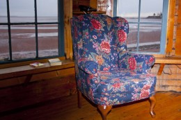 Cosy Chair inside cottage