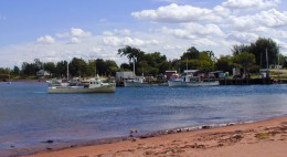 Lobster Boats docked